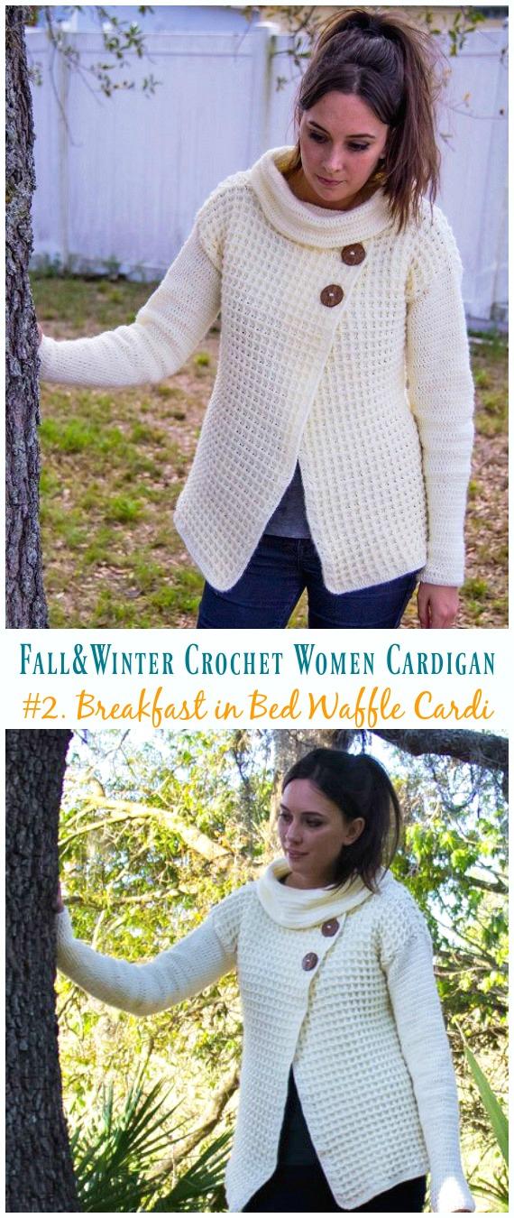 Fall Winter Women Cardigan Free Crochet Patterns