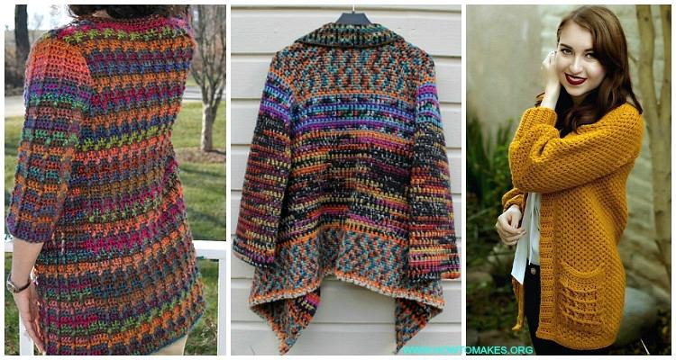5f654a8e1539e3 Fall   Winter Women Cardigan Free Crochet Patterns