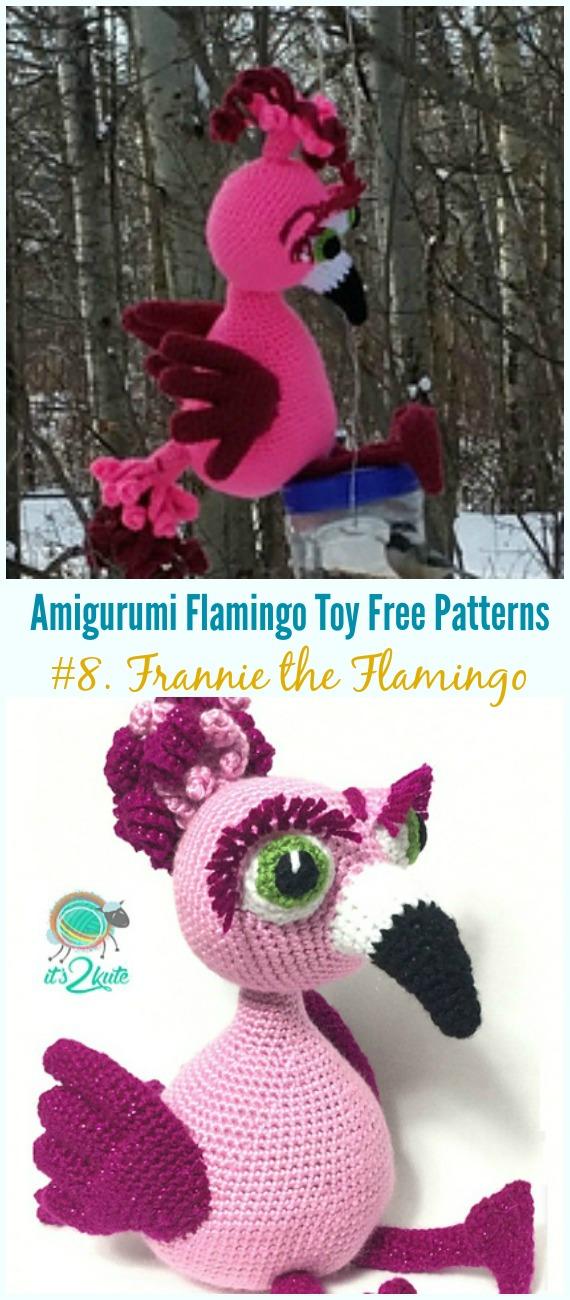 Free Amigurumi Flamingo Toy Softies Crochet Patterns