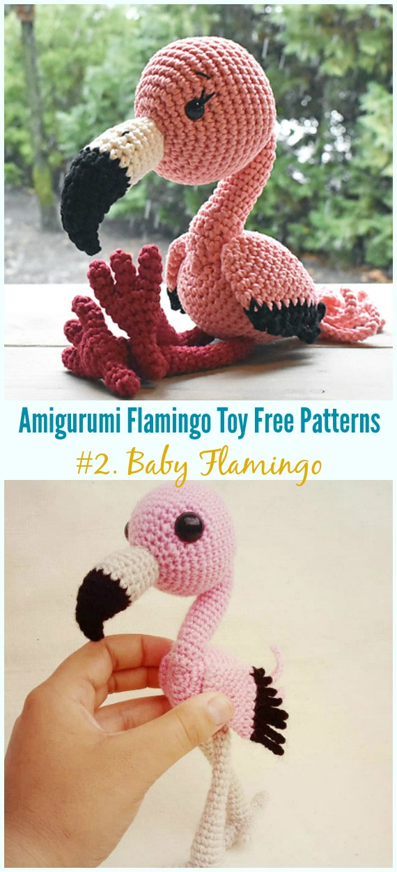 Crochet Baby Flamingo Amigurumi Free Pattern - Grátis #Amigurumi;  #Flamingo;  Padrões de crochê Toy Softies
