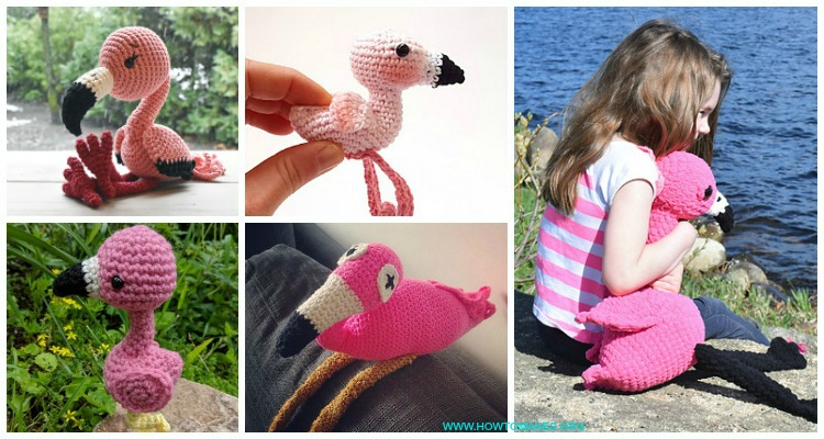 Free Amigurumi Flamingo Toy Softies Crochet Patterns