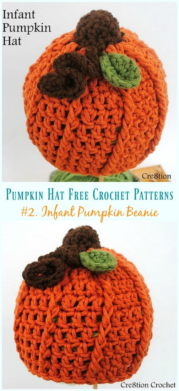 Infant Pumpkin Beanie Hat Crochet Free Pattern -  Pumpkin   Hat  Free   294770e0d041