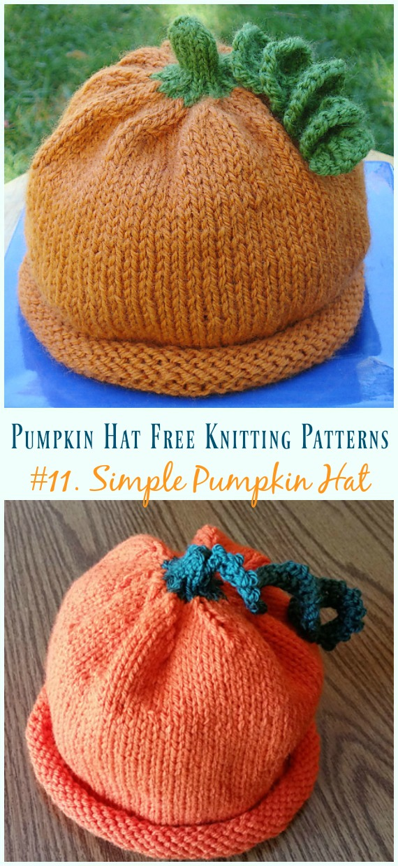 b3f3f0a2d Pumpkin Hat Free Knitting Patterns [Baby To Adults]