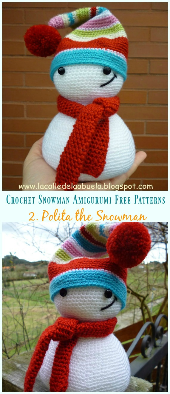 Crochet snowman amigurumi Pattern. Free Crochet Pattern, snowman ... | 1320x570