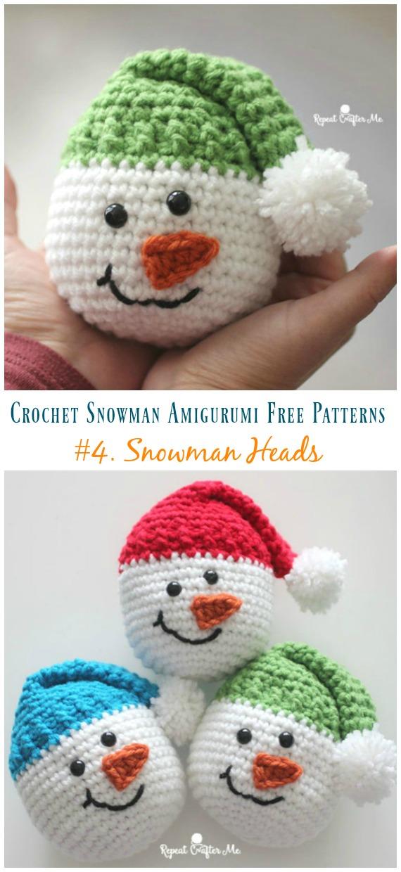 crochet snowman amigurumi free patterns crochet crafts