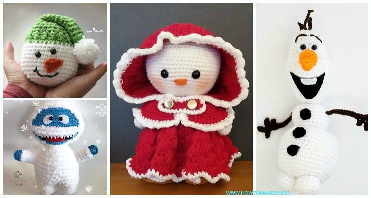 Crochet snowman amigurumi Pattern. Free Crochet Pattern, snowman ... | 400x750