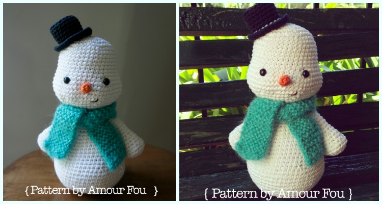 Jolly the Snowman Crochet Amigurumi Pattern – Snacksies Handicraft | 400x750