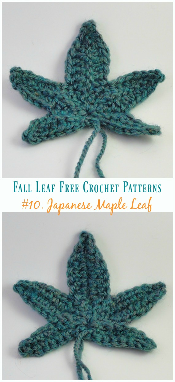 Japanese Maple Leaf Crochet Free Pattern Autumn Leaf