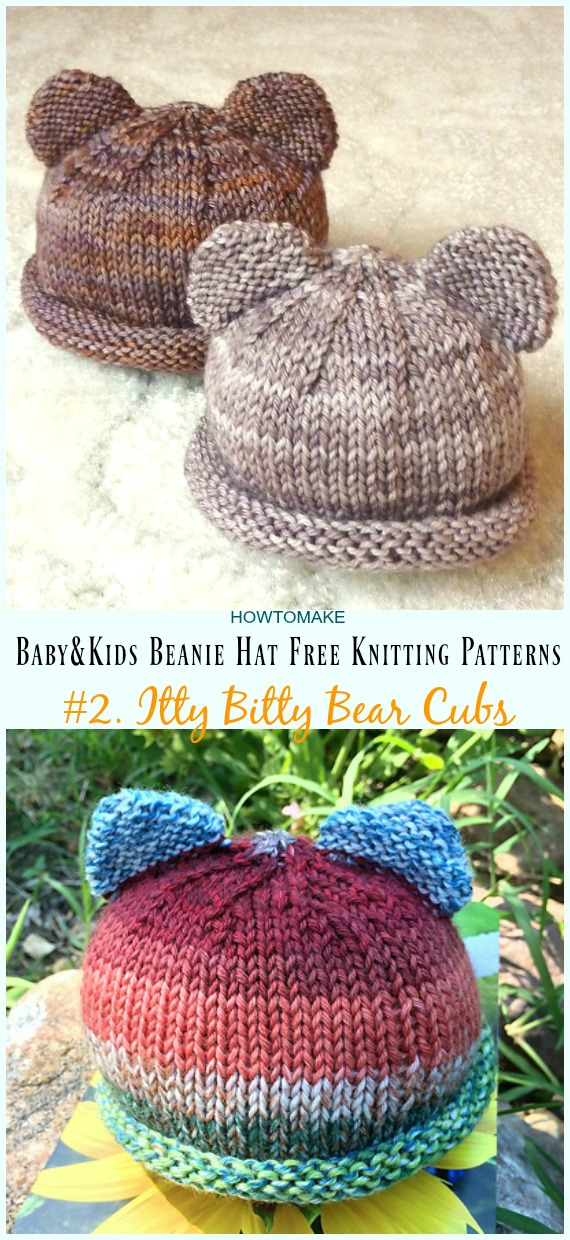 Baby & Kids Beanie Hat Free Knitting Patterns