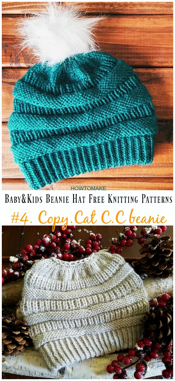 Cat C.C beanie Hat Knitting Free Pattern - Baby   Kids Beanie  Hat 2285730060c