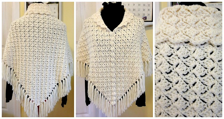 C2c 1 2 3 Shawl Poncho Crochet Free Pattern Women Poncho