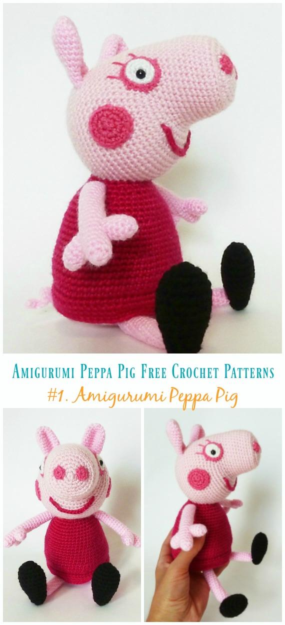 Crochet pig free amigurumi pattern - YouTube | 1250x570