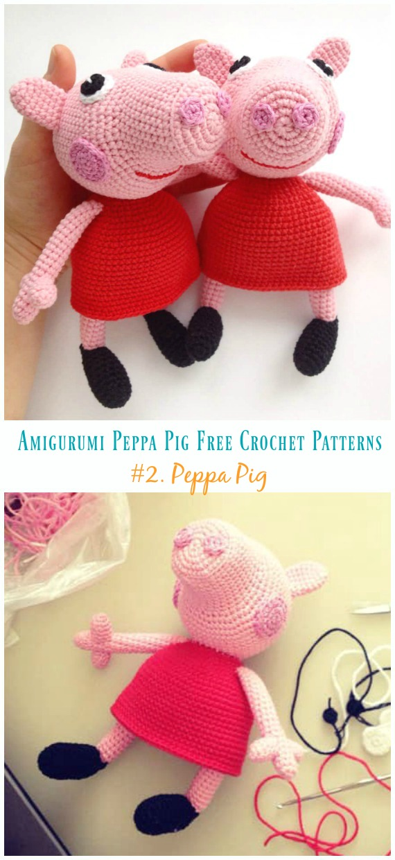 8 Crochet Amigurumi Pig Free Patterns | Crochet patterns amigurumi ... | 1240x570