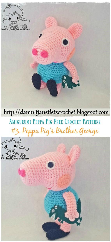 Peppa Pig - free crochet pattern | Schwein häkeln, Amigurumi ... | 1240x570