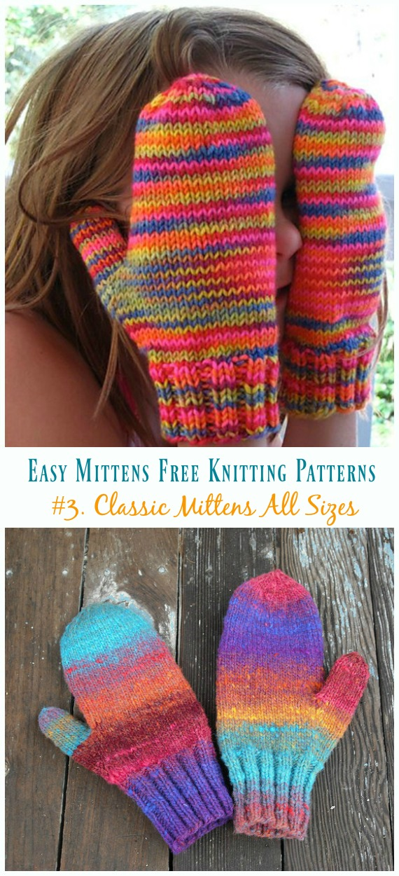 Quick Amp Easy Mittens Free Knitting Patterns