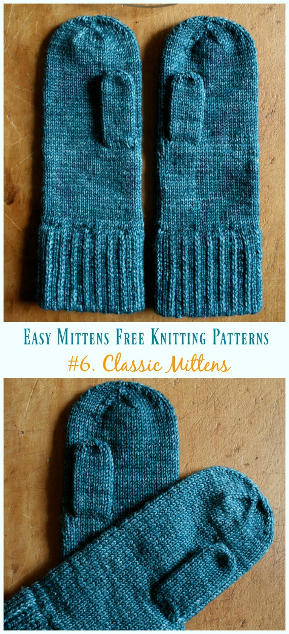 Quick & Easy Mittens Free Knitting Patterns