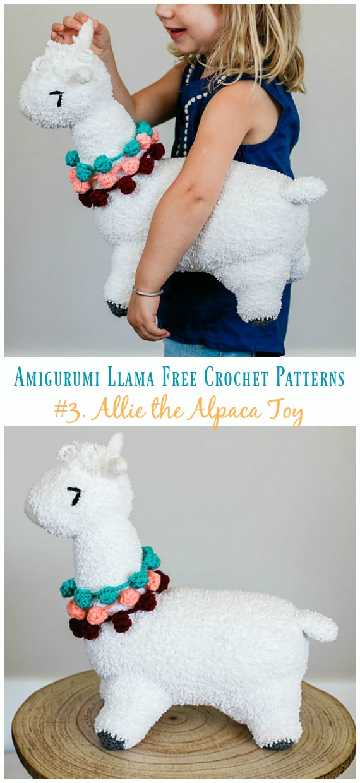 Crochet Allie the Alpaca Toy Amigurumi Free Pattern - Ücretsiz #Amigurumi;  #Lama Toy Softies Tığ Desenleri