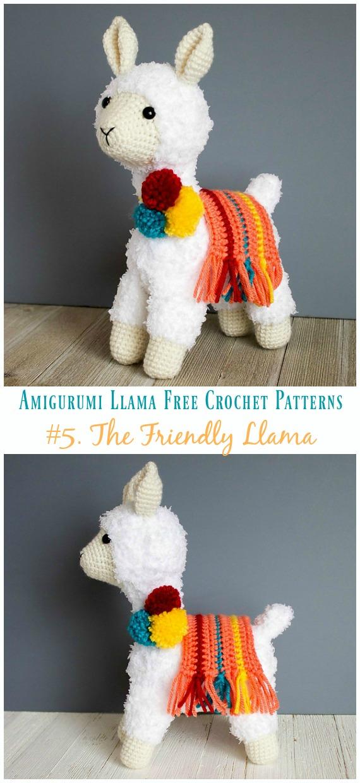 Free Amigurumi Llama Toy Softies Crochet Patterns