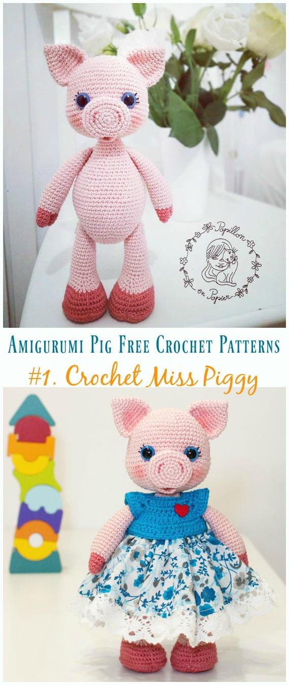 Amigurumi Sweet Pig Free Pattern   Crochet pig, Crochet animal ...   1350x570