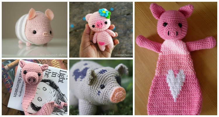 Mini Amigurumi Pig - A Free Crochet Pattern - Grace and Yarn | 400x750