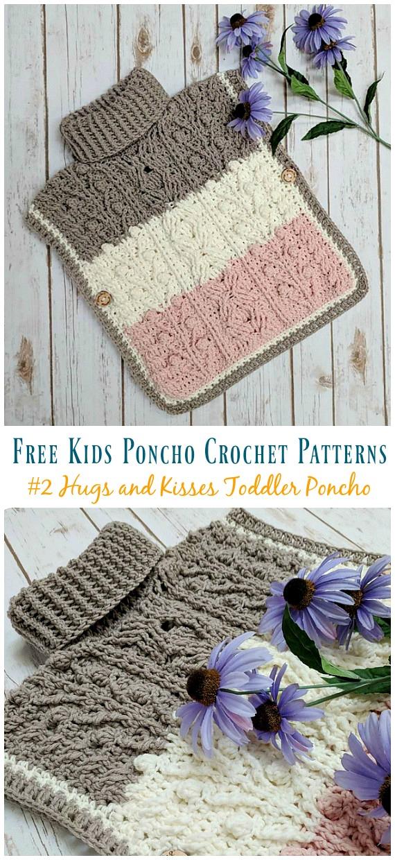 Free Kids Poncho Crochet Patterns