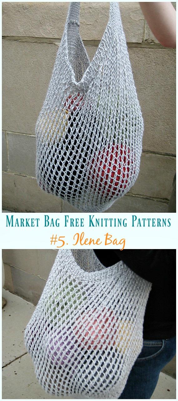 knitted Tote Handbag Hand Knit Bag Knitted Project Bag Reusable Shopping bag knitted Market bag