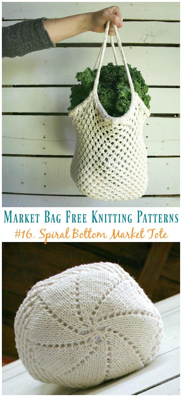Market Bag Free Knitting Patterns