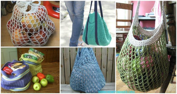 Market Bag Free Knitting Patterns Bag - Knitting Bag