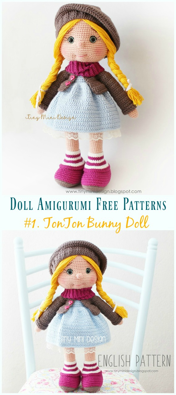 Little Doll Amigurumi Free Pattern – FREE AMİGURUMİ CROCHET | Doll ... | 1280x570