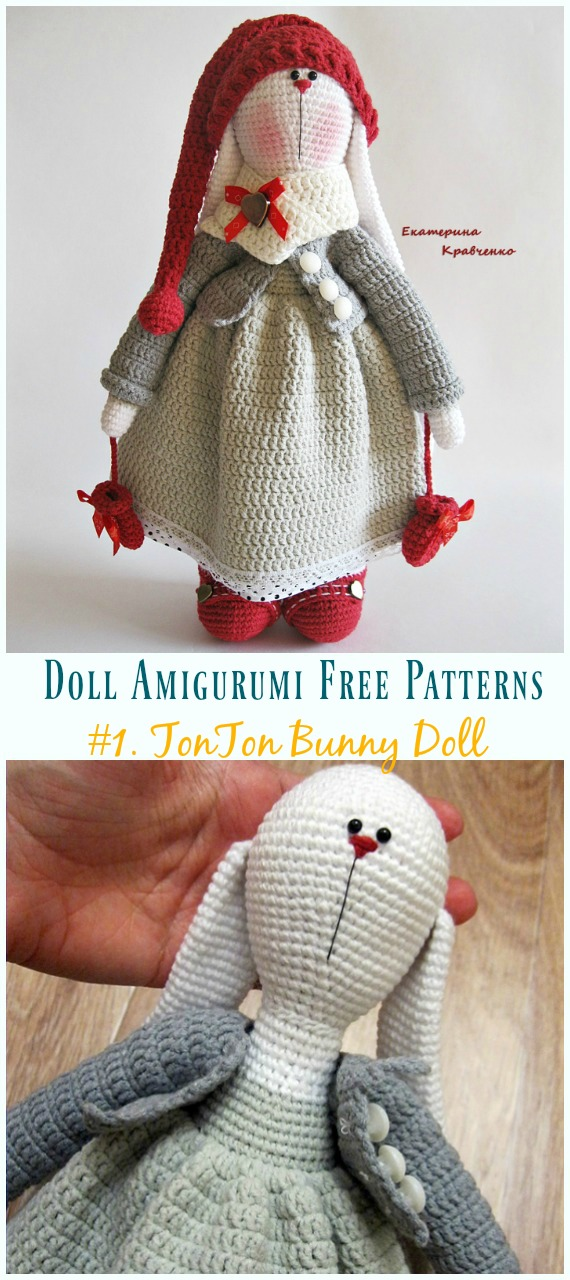 Free Crochet Doll Pattern- The Friendly Grace - thefriendlyredfox.com | 1280x570
