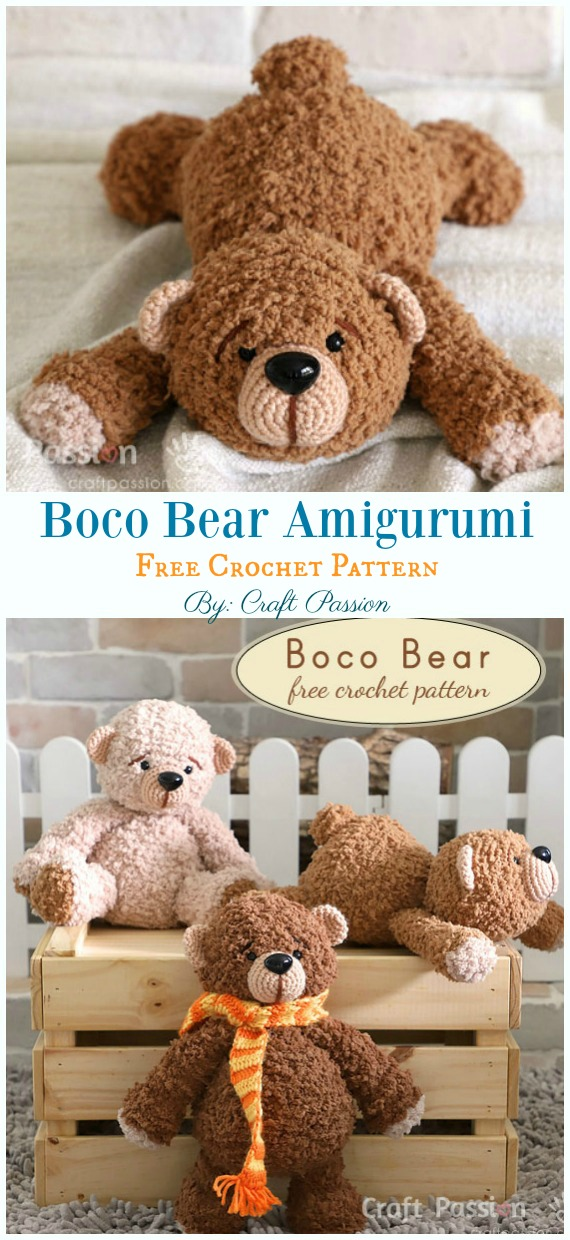 Free Amigurumi Bear Toy Softies Crochet Patterns