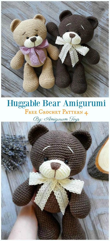 Crochet bear amigurumi pattern | Amiguroom Toys | 1240x570