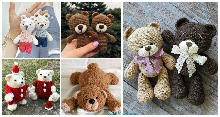 Crochet Bear PATTERN - Amigurumi Crochet Toy Pattern - Little ... | 400x750