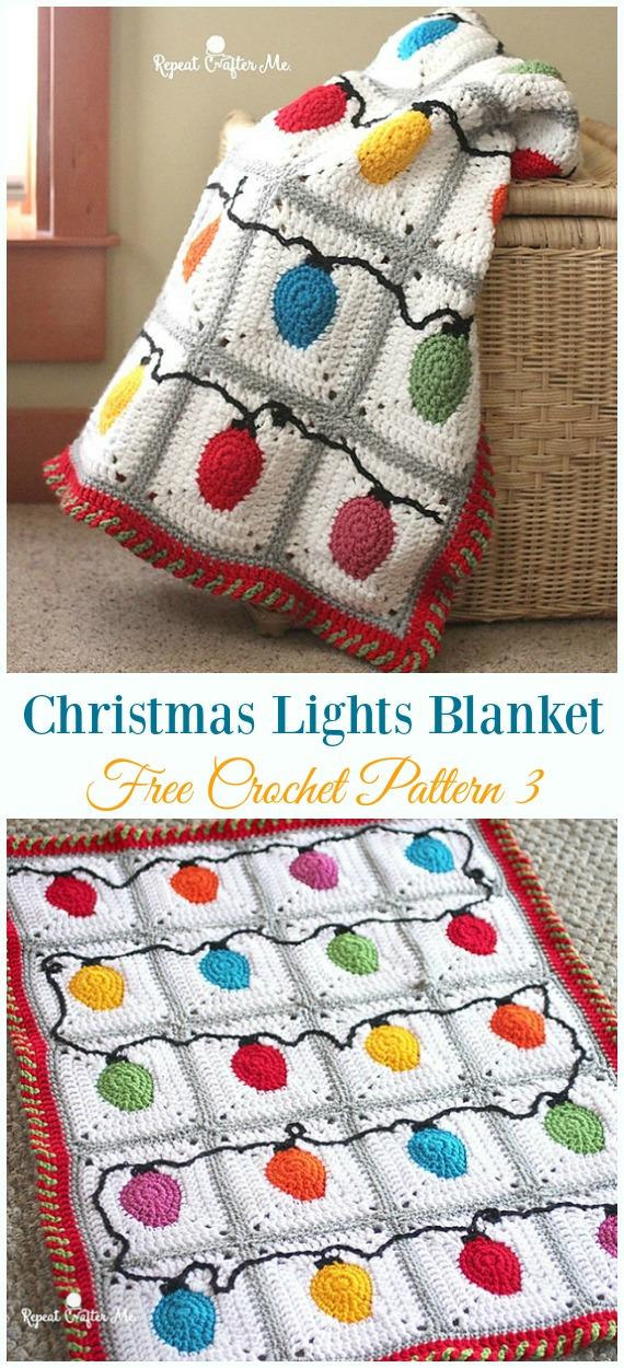 Weihnachtslichter Decke werfen Häkelanleitung kostenlos - Urlaub #Wurfen;  Decke frei #Häkeln;  Muster