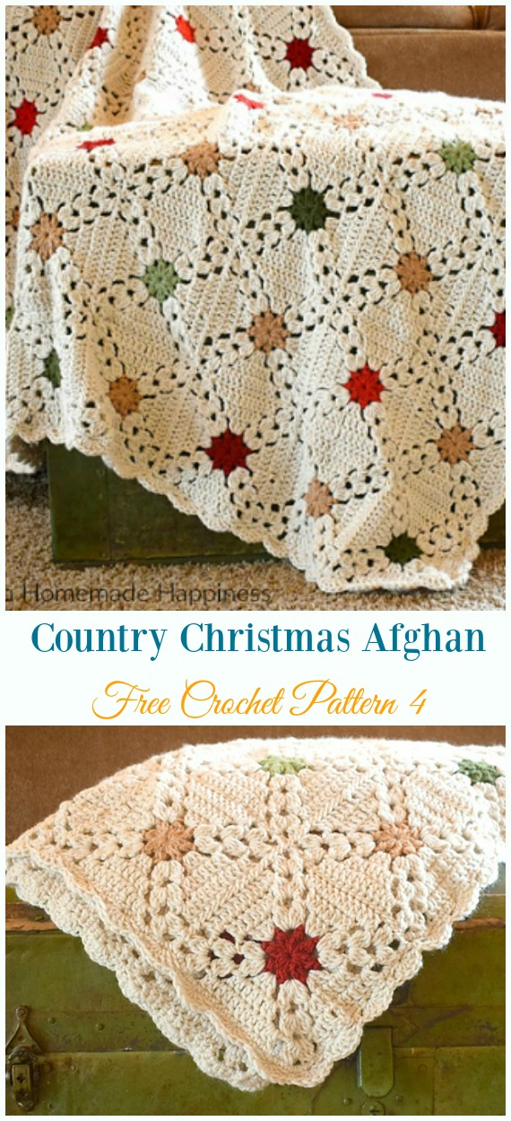 Christmas Crochet Blanket Free Pattern.Holiday Leaf Motif Throw Crochet Free Pattern Throw Blanket