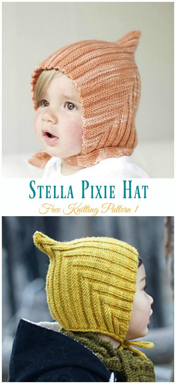 Stella Pixie Hat Knitting Free Pattern - Kids  Pixie   Hat  Free   8a8a917fb76