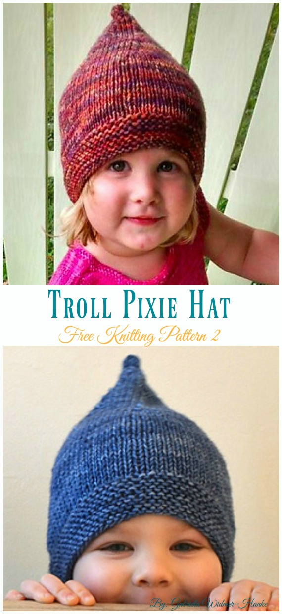 Troll Pixie Hat Knitting Free Pattern - Kids  Pixie   Hat  Free   6292df5113c