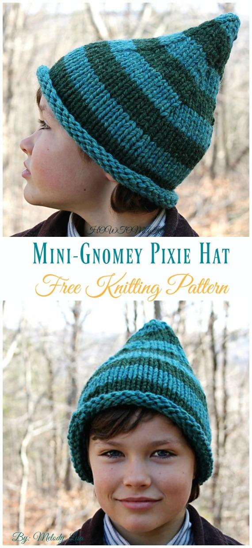 Mini-Gnomey Pixie Hat Knitting Free Pattern - Kids  Pixie   Hat  8a1728589d8
