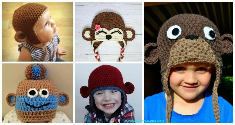 Monkey Hat Free Crochet Patterns