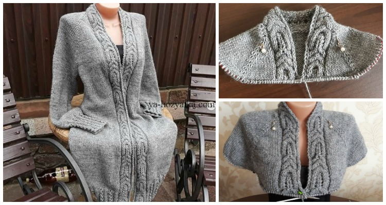 3e70fbcca Raglan Knit Long Cable Cardigan Knitting Free Pattern