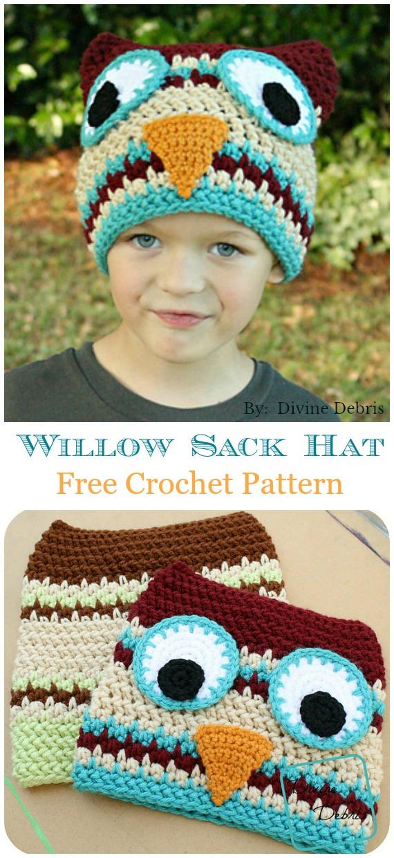 Willow Sack Hat Crochet Free Pattern - Sack #Hut;  Kostenlose #Häkeln;  Muster