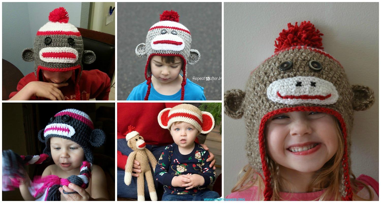 CROCHET PATTERN Spunky The Big Sock Monkey PDF Crochet Pattern | Etsy | 800x1500