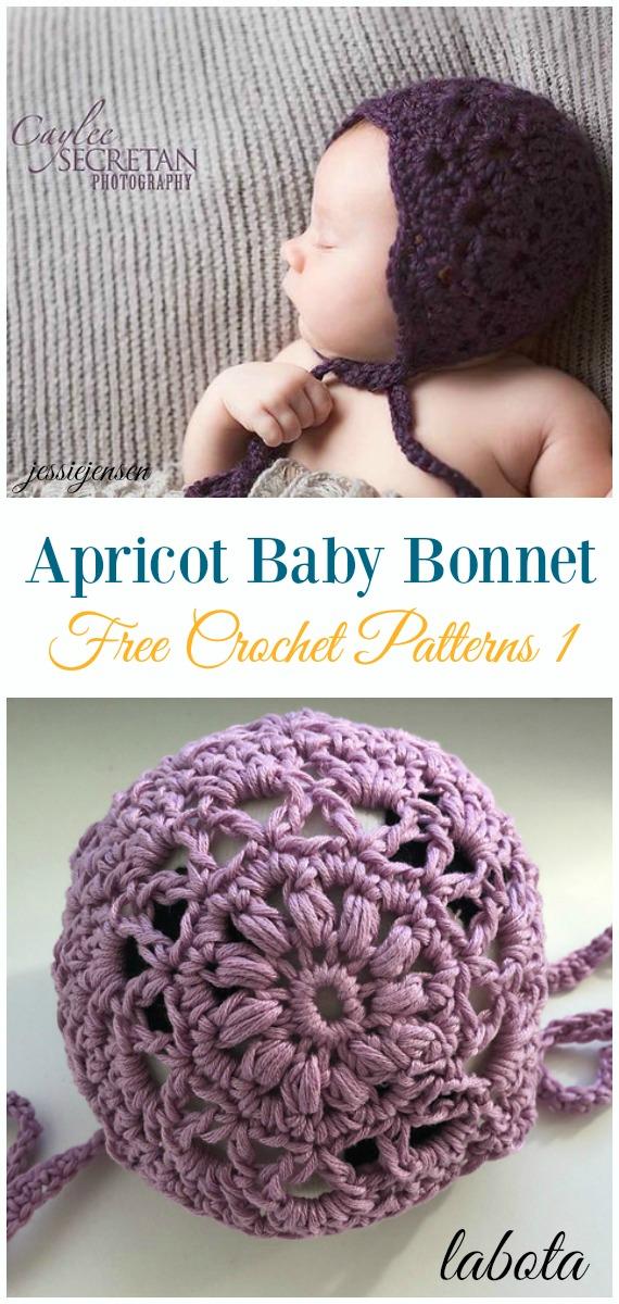 Baby Bonnet Hat Free Crochet Patterns
