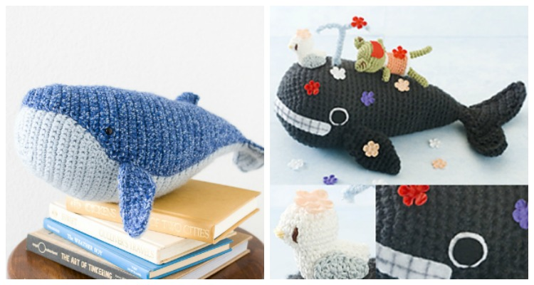 Free Amigurumi Whale Pattern - Knits and Knots by AME | 400x750