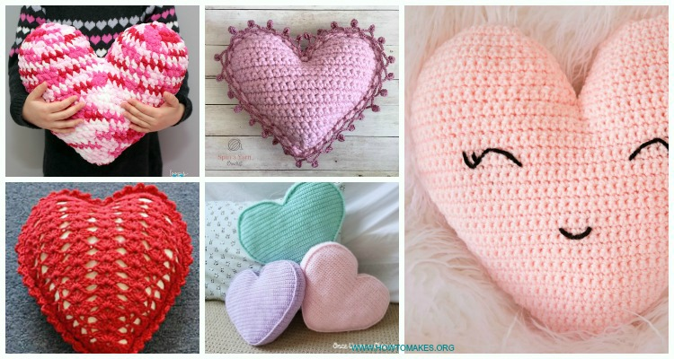 Super Quick And Easy Crochet Heart Amigurumi Pattern - Knit And ... | 400x750