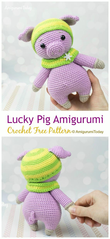 Crochet PATTERN piggy / amigurumi pig / pdf tutorial pig / pattern ... | 1240x570