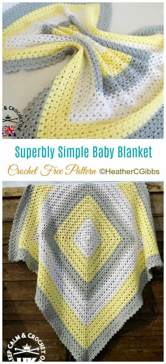 Superbly Simple Baby Blanket Crochet Free Pattern