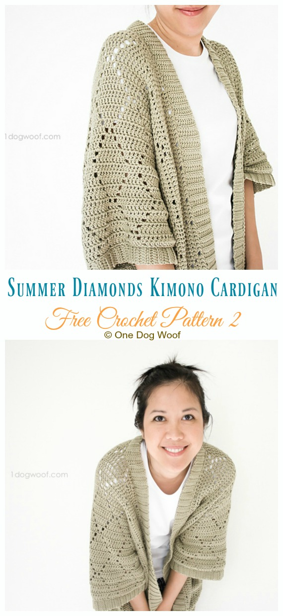 Women Kimono Cardigan Free Crochet Patterns