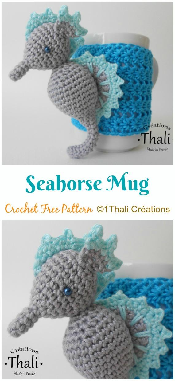Amigurumi Seahorse Crochet Free Patterns- Crochet & Knitting | 1240x570