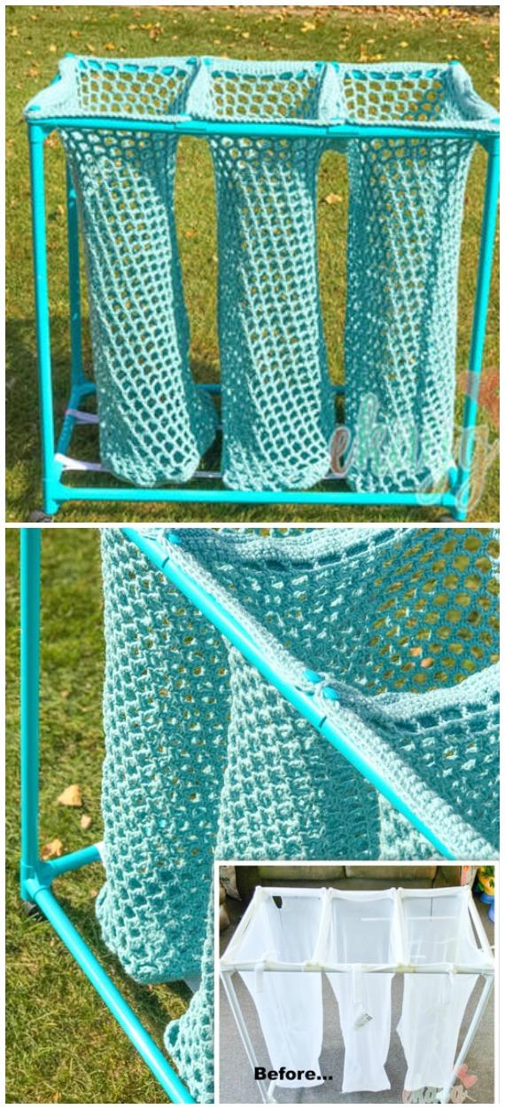 PVC Wäschesortierer Häkelfreies Muster